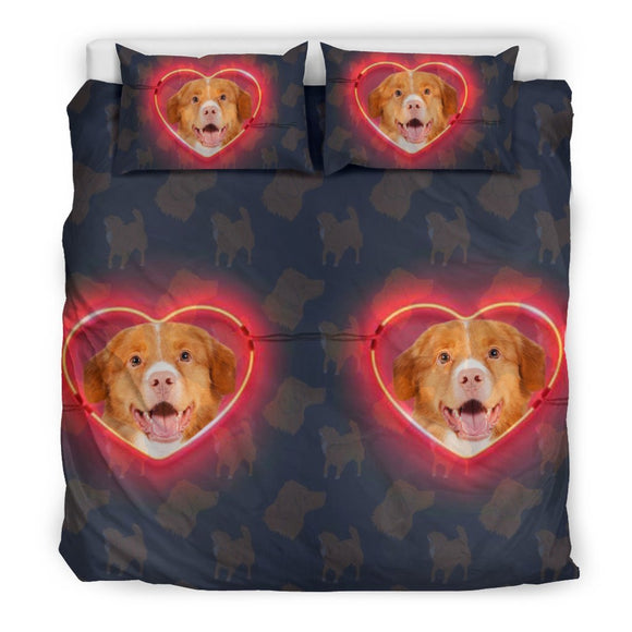 Nova Scotia Duck Trolling Retriever In heart Print Bedding Set-Free Shipping