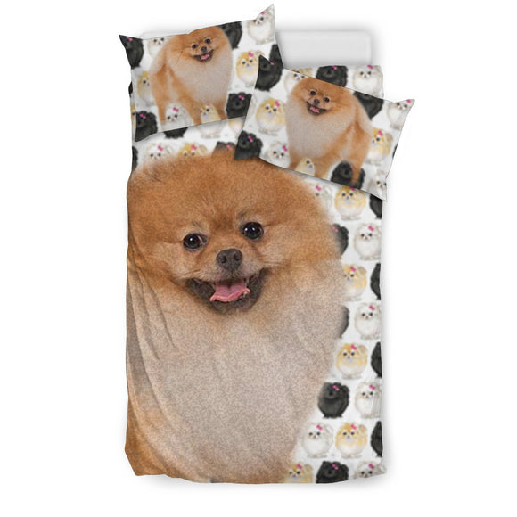 Pomeranian Dog Patterns Print Bedding Set-Free Shipping