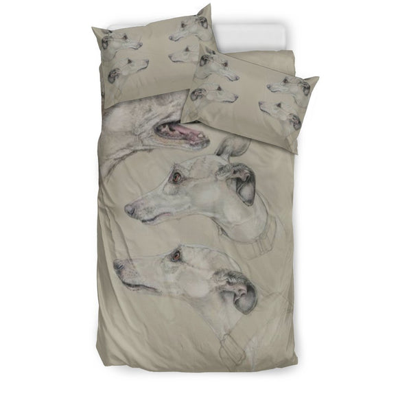 Amazing Whippet Dog Print Bedding Set-Free Shipping