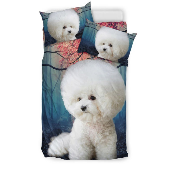 Cute Bichon Frise Print Bedding Set- Free Shipping
