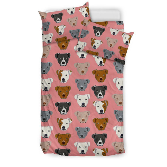 Pit Bull Dog Pattern Print Bedding Set-Free Shipping