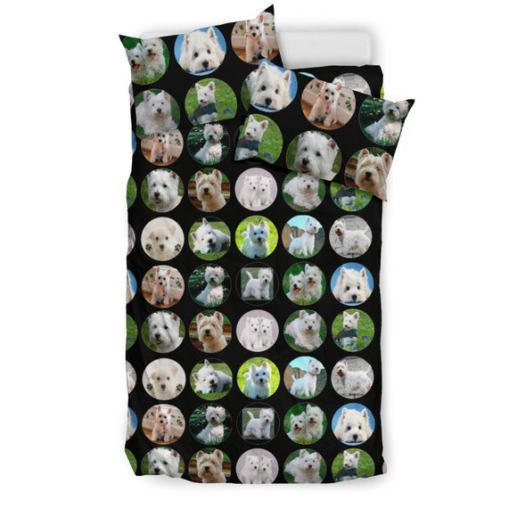 Westie In Lots (West Highland White Terrier) Print Bedding Set-Free Shipping