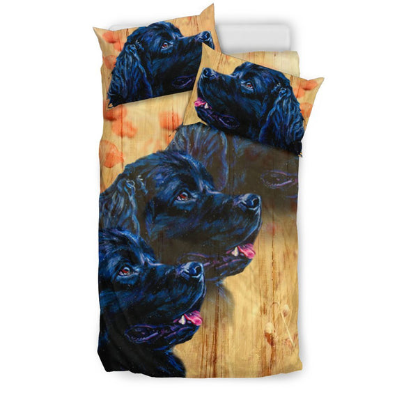 Newfoundland Dog Art Print Bedding Set-Free Shipping