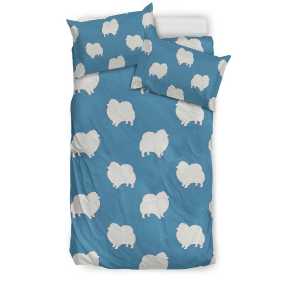 Cute Pomeranian Dog Pattern Print Bedding Set-Free Shipping