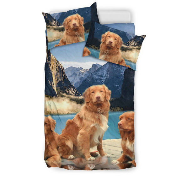 Cute Nova Scotia Duck Tolling Retriever Print Bedding Sets- Free Shipping
