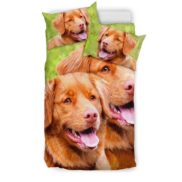 Lovely Nova Scotia Duck Tolling Retriever Dog Print Bedding Set-Free Shipping
