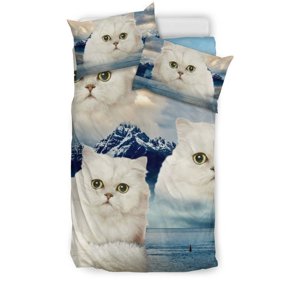 Cute Persian Cat Print Bedding Set- Free Shipping