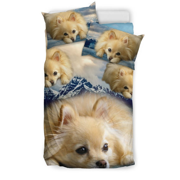 Lovely Pomeranian Dog Print Bedding Set- Free Shipping