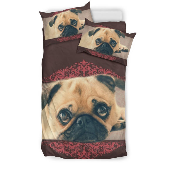 Cutest Pug dog Print Bedding Sets-Free Shipping