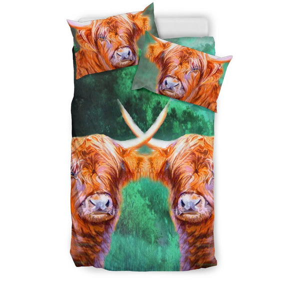 Highland Cattle (Cow) Art Print Bedding Set-Free Shipping