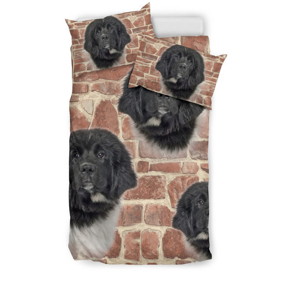 Newfoundland Dog Print Bedding Set- Free Shipping
