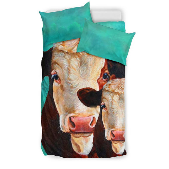 Simmental Cattle (Cow)  Print Bedding Set-Free Shipping