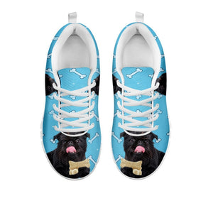 Amazing Black Brussels Griffon (Griffon Bruxellois)  Dog Bone Print Running Shoes For Women-Free Shipping-For 24 Hours Only