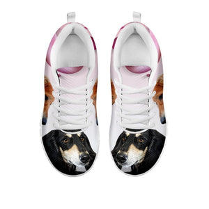 Amazing Black Saluki Dog Print Running Shoes For Women-Free Shipping-For 24 Hours Only
