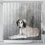Saluki Dog Print Shower Curtains-Free Shipping