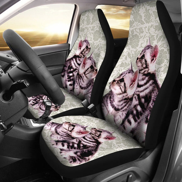 Cute American Shorthair Cat Print Car Seat Covers- Free Shipping