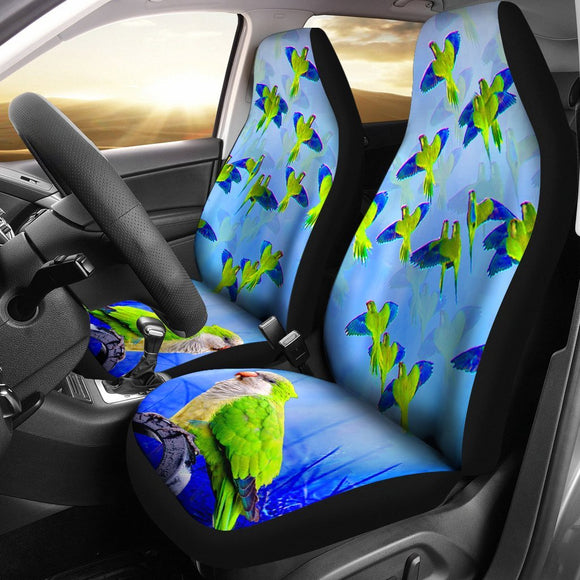 Monk Parakeet (Quaker) Parrot Print Car Seat Covers-Free Shipping