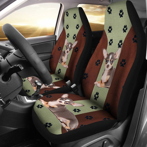 Chihuahua Dog Print Car Seat Covers- Free Shipping