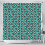 Lion Pattern Print Shower Curtains-Free Shipping
