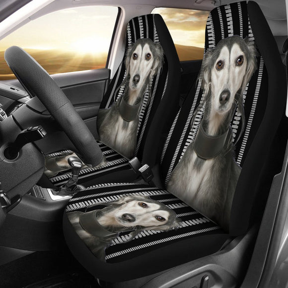 Saluki Dog Print Car Seat Covers-Free Shipping