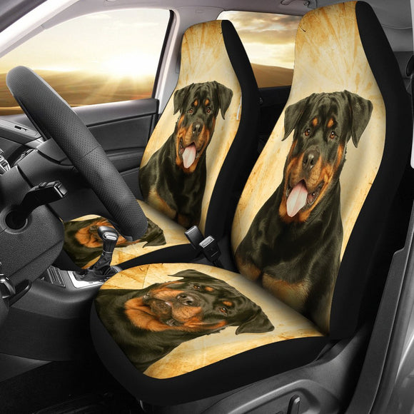 Rottweiler Print Car Seat Covers- Free Shipping
