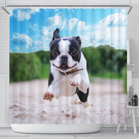 Awesome Boston Terrier Print Shower Curtains-Free Shipping