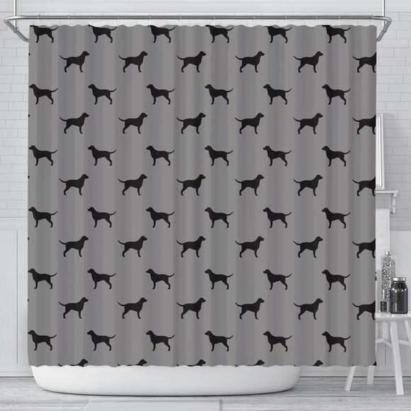 Curly Coated Retriever Dog Pattern Print Shower Curtains-Free Shipping