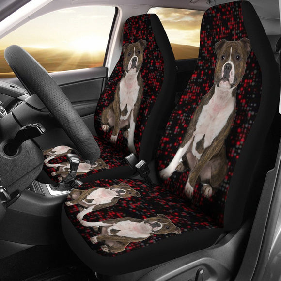Staffordshire Bull Terrier Print Car Seat Covers-Free Shipping