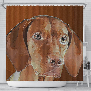 Amazing Vizsla Dog Art Print Shower Curtain-Free Shipping