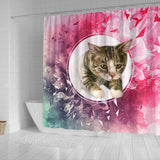 American Shorthair Cat Print Shower Curtain-Free Shipping