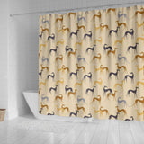 Greyhound Dog Pattern Print Shower Curtains-Free Shipping