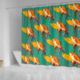Beautiful GoldFish Print Shower Curtains-Free Shipping