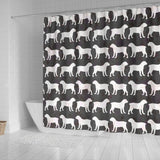 Boreboel Dog Pattern Print Shower Curtains-Free Shipping