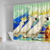 Lovely Cockatoo Parrot Print Shower Curtains-Free Shipping