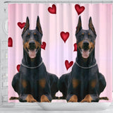 Amazing Doberman Pinscher Dog Print Shower Curtain-Free Shipping