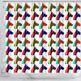 Great Dane Multicolor Art Print Shower Curtains-Free Shipping