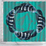 African Cichlid Fish Print Shower Curtains-Free Shipping