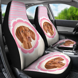 Cute Vizsla Dog Print Car Seat Covers-Free Shipping