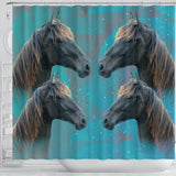 Amazing Tennessee Walker Horse Print Shower Curtains-Free Shipping