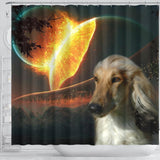 Amazing Afghan Hound Dog Print Shower Curtain-Free Shipping