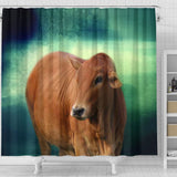 Boran cattle (cow) Print Shower Curtain-Free Shipping