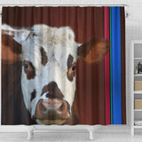 Cute Normande Cattle (Cow) Print Shower Curtain-Free Shipping