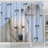 Amazing Central Asian Shepherd Dog Print Shower Curtain-Free Shipping