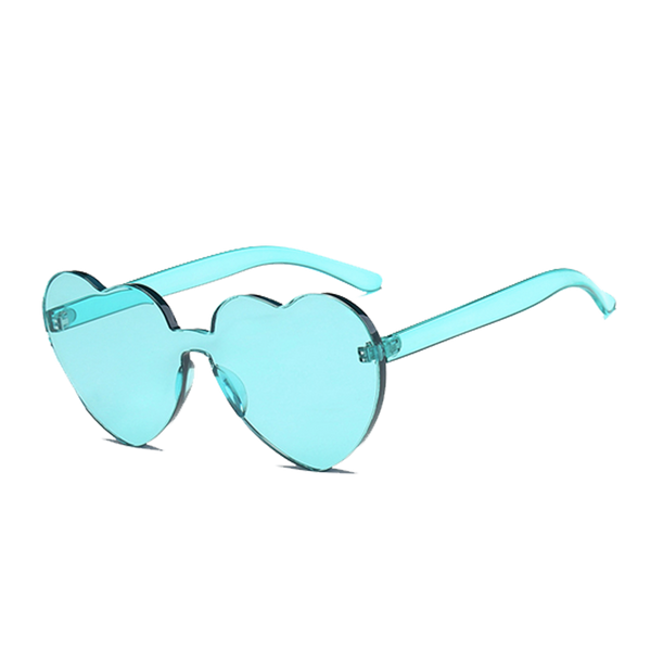 Womens Heart Eyes Sunglasses