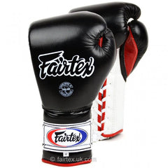 Fairtex 12oz Black Mexican Lace-up Gloves