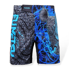 Kids Fumetsu Rampage Fight Shorts Black/Blue