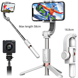 1-Axis Gimbal Stabilizer for Smartphones with Built-in Remote - trendyful