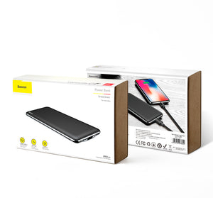 Baseus 10000mah Light and Thin Power Bank, M21 - trendyful