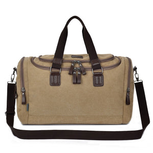 Quality Canvas Weekender Bag | Canvas Travel Bag | Duffle Bag, Canvas Weekender Duffel Bag - trendyful
