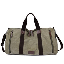 Load image into Gallery viewer, Lugano Quality Canvas Weekender Bag | Canvas Travel Bag | Duffle Bag, Canvas Duffel Weekender Bag - trendyful